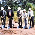 5 Individuals participate in the Turtle Woods Groundbreaking